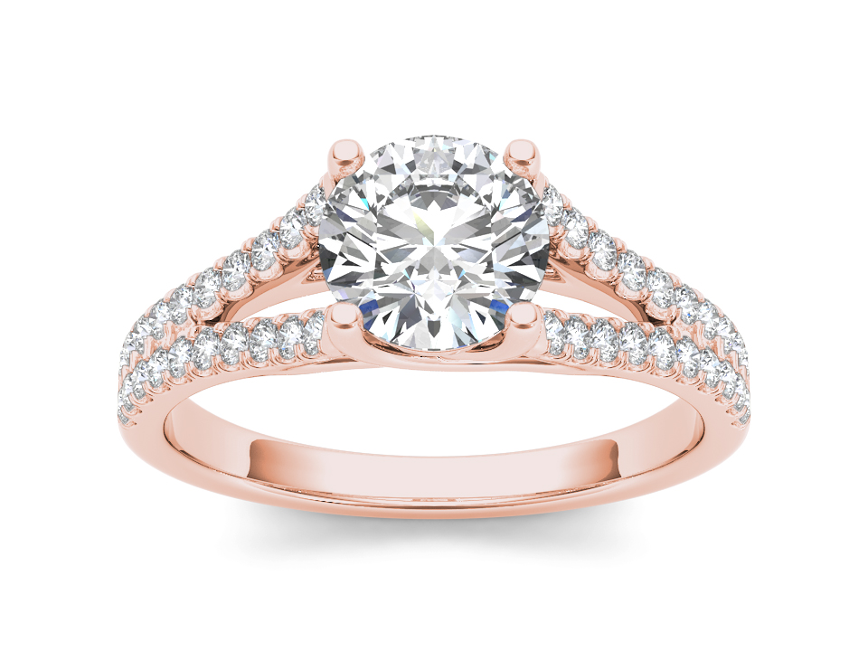 Aline solitaire engagement ring in rose gold by SJ Gems
