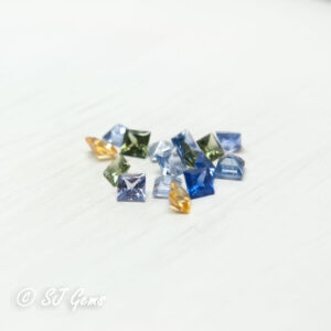 Mixed Sapphire 2.4mm Princess Parcel