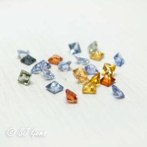Mixed Sapphire 2.5mm Princess Parcel