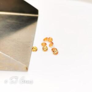 Orange Sapphire 2mm Round