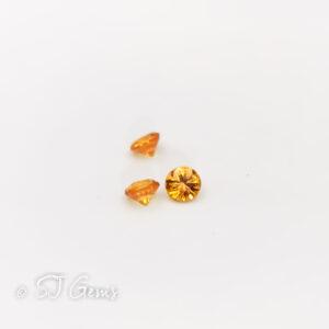 Orange Sapphire 3mm Round