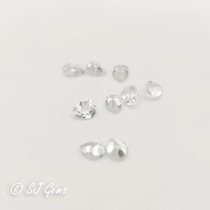 White Topaz 4x3 Pear