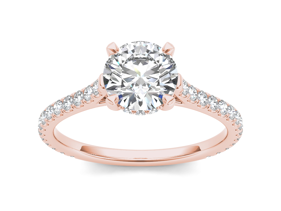 Cosette solitaire engagement ring in rose gold by SJ Gems