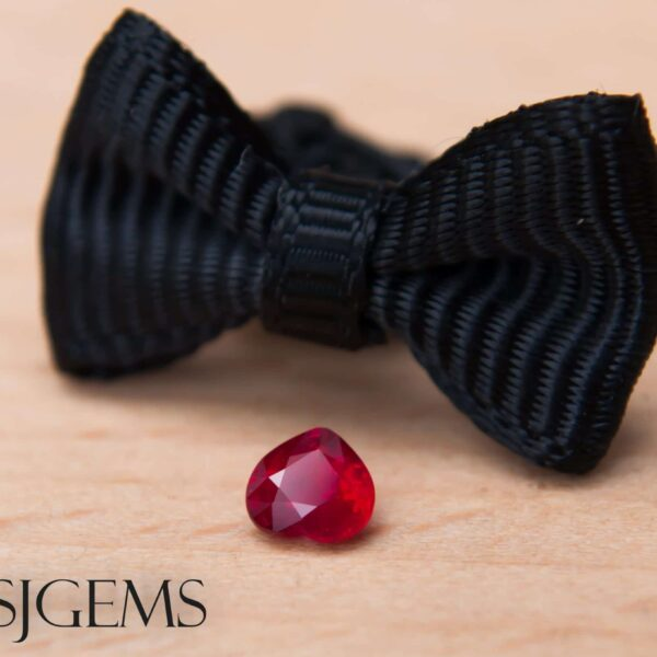 Mozambican Ruby 0.28ct Heart