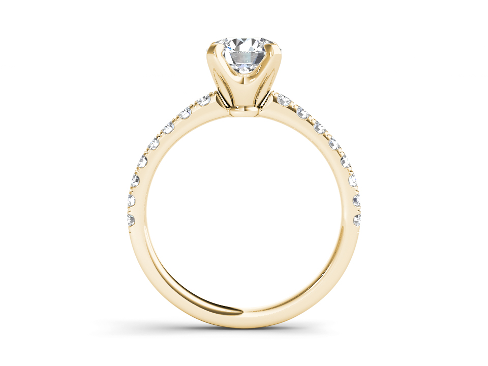 Fayette solitaire engagement ring in yellow gold by SJ Gems
