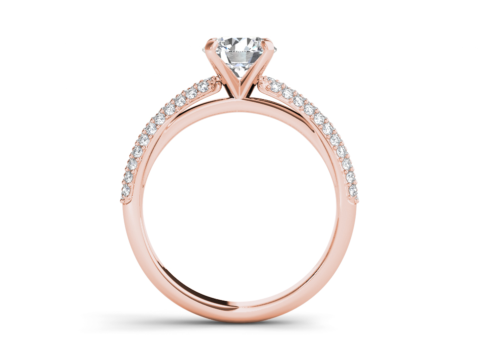 Isabelle solitaire engagement ring in rose gold by SJ Gems