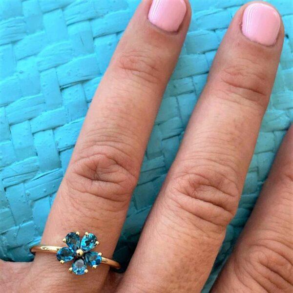 Topaz Flower Ring