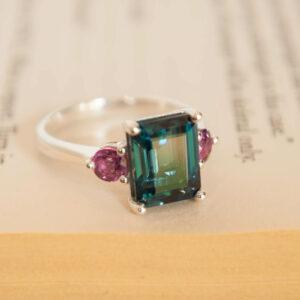 Topaz and Garnet Ring