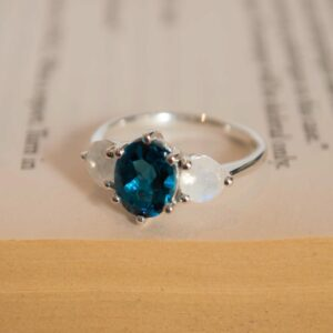 Topaz and Moonstone Ring