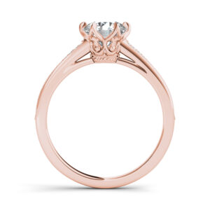 Lilou solitaire engagement ring in rose gold by SJ Gems