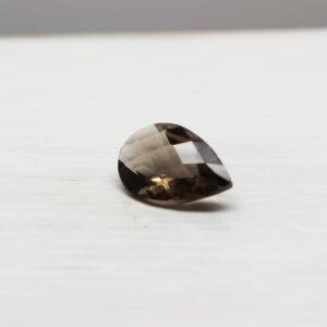 Smoky Quartz 2.30ct Checkerboard Pear