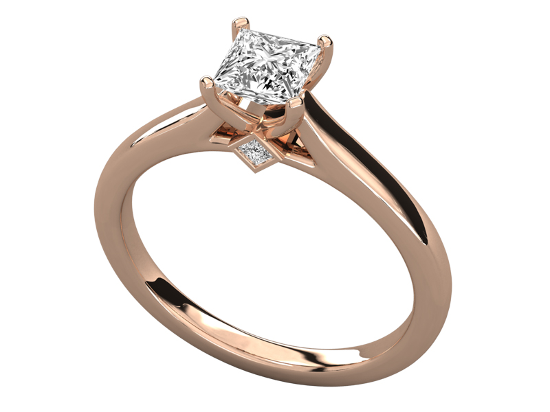 Rohesia solitaire engagement ring in rose gold by SJ Gems