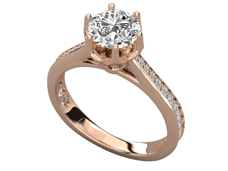 Roselani solitaire engagement ring in rose gold by SJ Gems