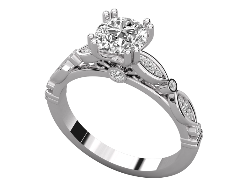 Sunniva solitaire engagement ring in white gold by SJ Gems