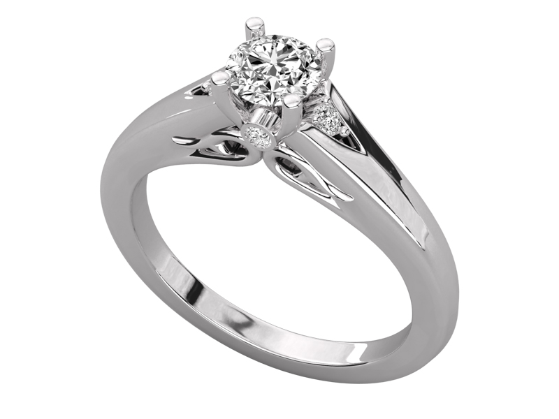 Tatiana solitaire engagement ring in white gold by SJ Gems