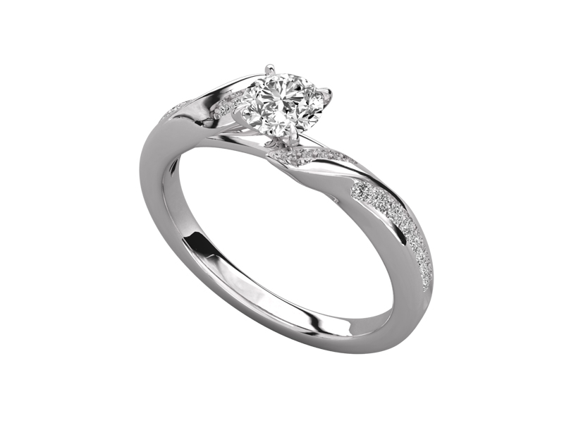 Tierney solitaire engagement ring in white gold by SJ Gems