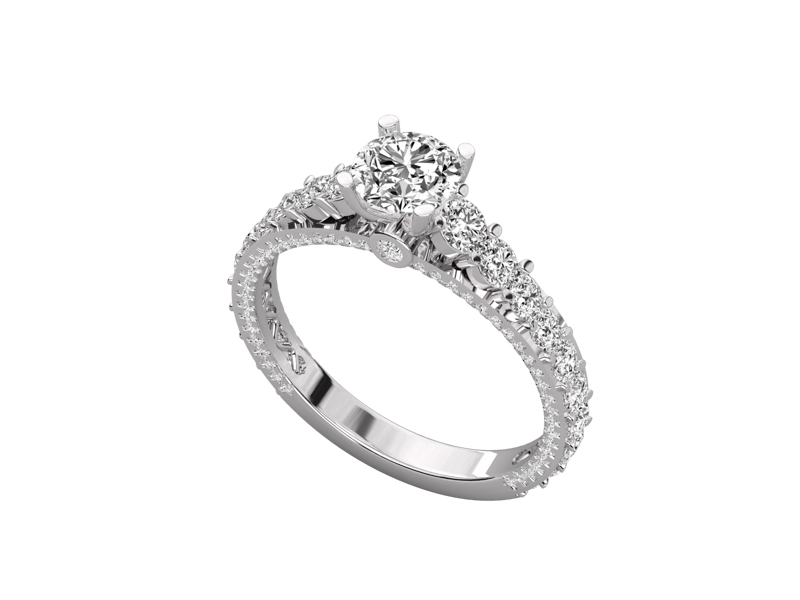 Yohana solitaire engagement ring in white gold by SJ Gems