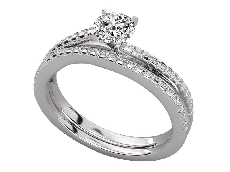 Zuri solitaire engagement ring in white gold by SJ Gems