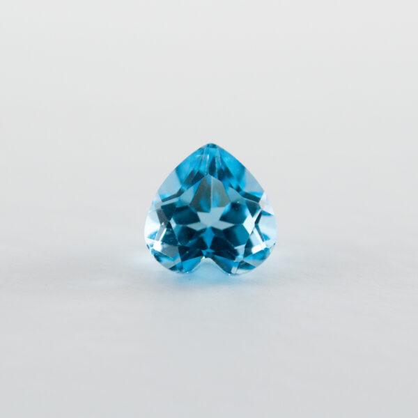 Swiss Blue Topaz  1.47ct Heart