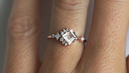 Cluster Engagement Ring