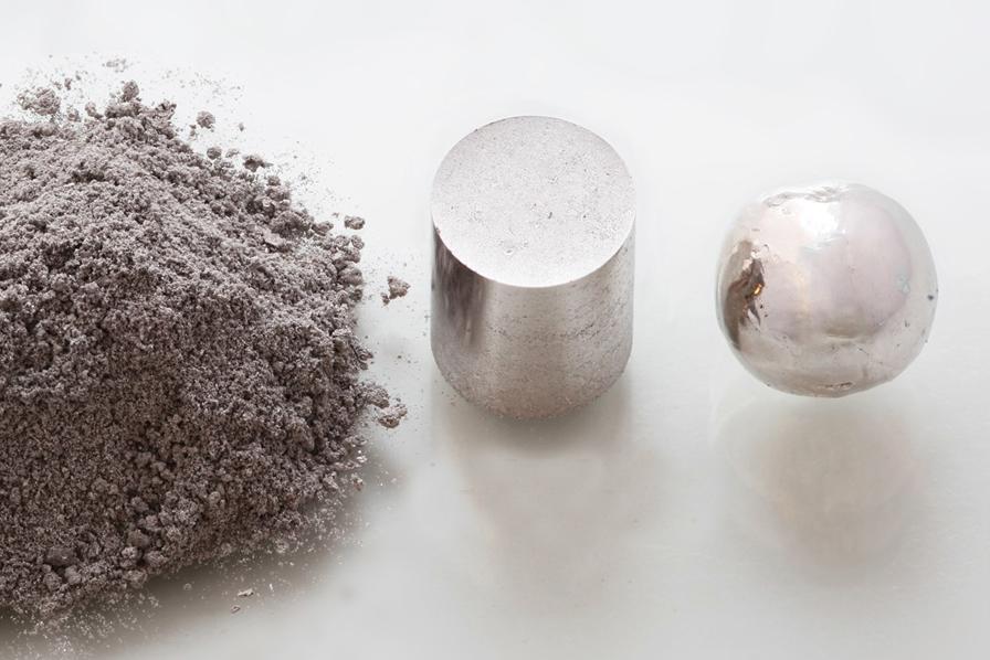 rough rhodium metal
